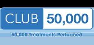 club 50,000. 50,000 Treatments Performed